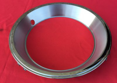1967 Chevrolet Corvette Stainless Steel Wheel Trim Rings w Satin Finish