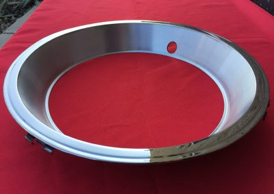 1967 Chevrolet Corvette Stainless Steel Wheel Trim Rings w Satin Finish 2